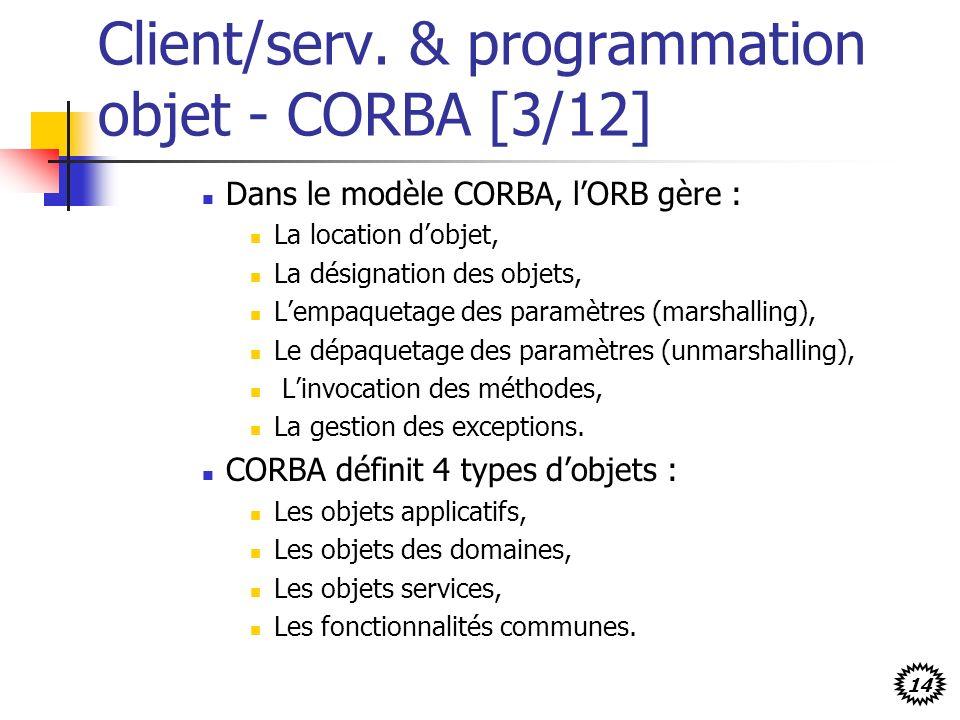 Client/serv. & programmation objet - CORBA [3/12]